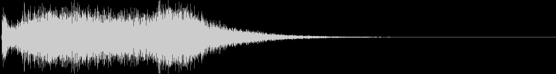 バキーンと迫力のあるレベルアップ効果音の未再生の波形