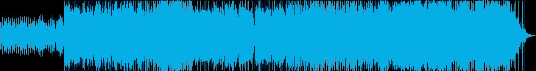 ピアノパターンを特徴とするポップロックの再生済みの波形