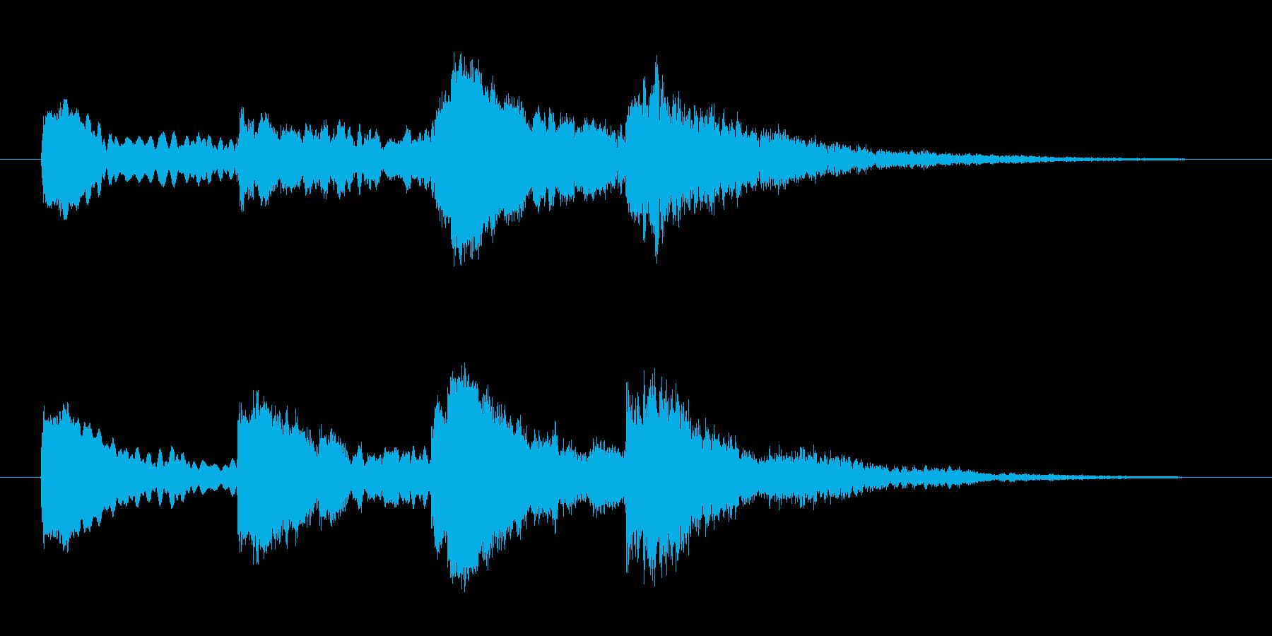 ホラー効果音 ピアノ 異変 察知 怪しいの再生済みの波形