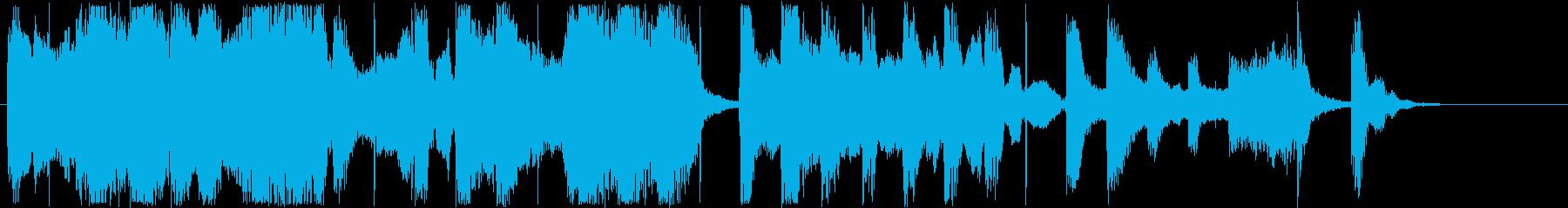 のんびり感シンセサイザー短めジングルの再生済みの波形