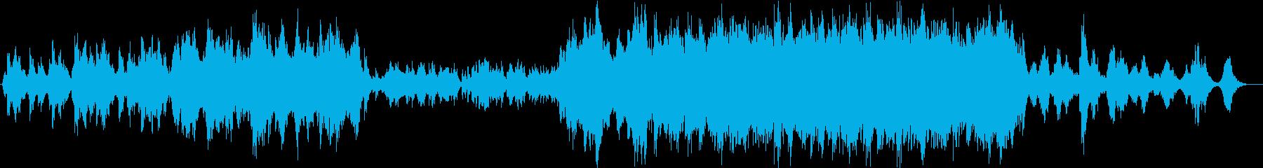 穏やかかつ雄大な和風BGMの再生済みの波形