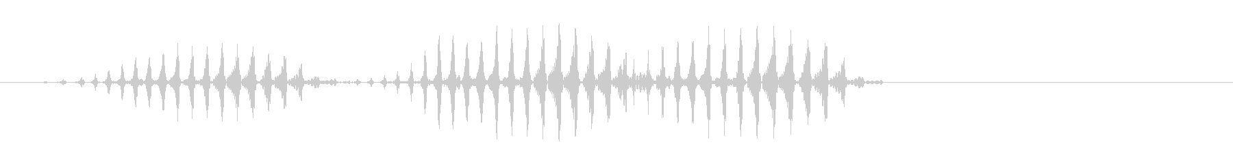 速いリズムのケロケロケロ効果音の未再生の波形