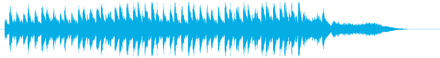 ピアノ主体の緊張感のあるシリアスな曲の再生済みの波形