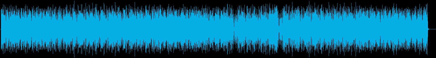 近未来的なシンセサイザーのポップスの再生済みの波形
