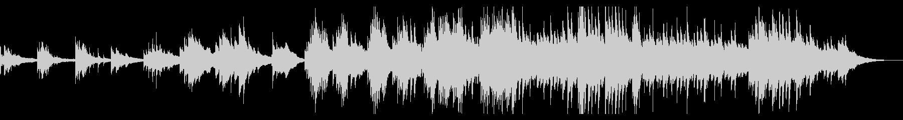七夕がイメージのドラマティックなピアノの未再生の波形