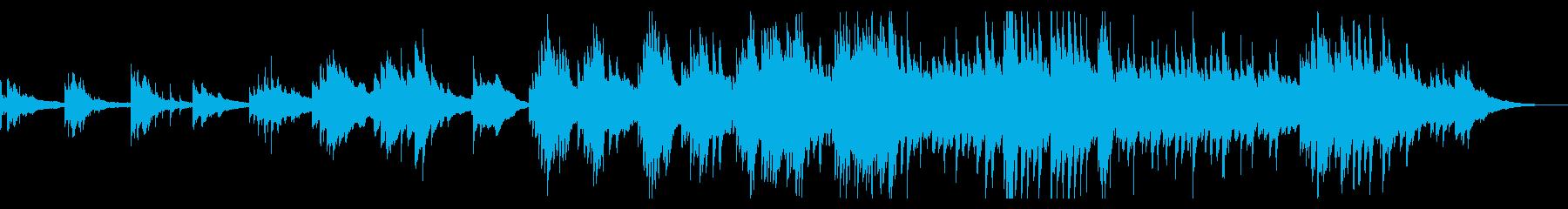 七夕がイメージのドラマティックなピアノの再生済みの波形