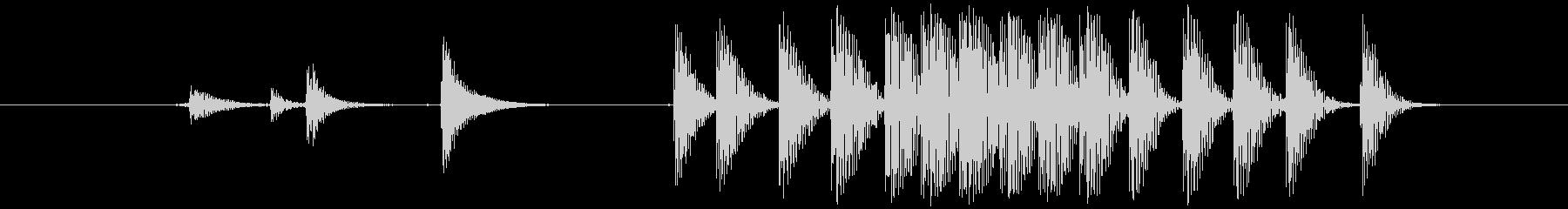 モンスター げっぷ01の未再生の波形