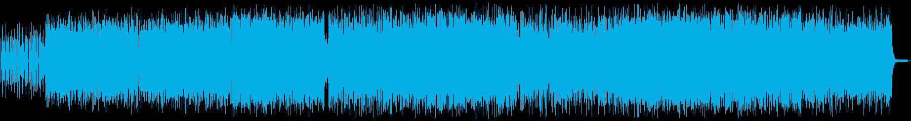 ポップでファンシーなテクノシンセサイザーの再生済みの波形