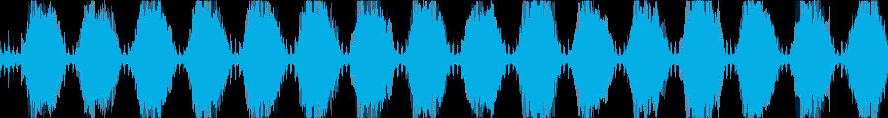 機械的な警報アラーム効果音・ループBGMの再生済みの波形