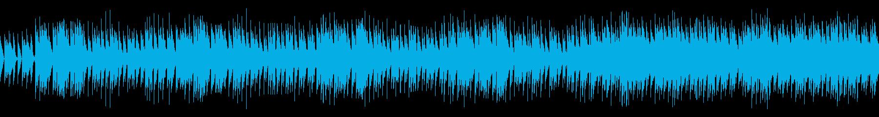 機械的な懐かしい80年代風テクノポップの再生済みの波形