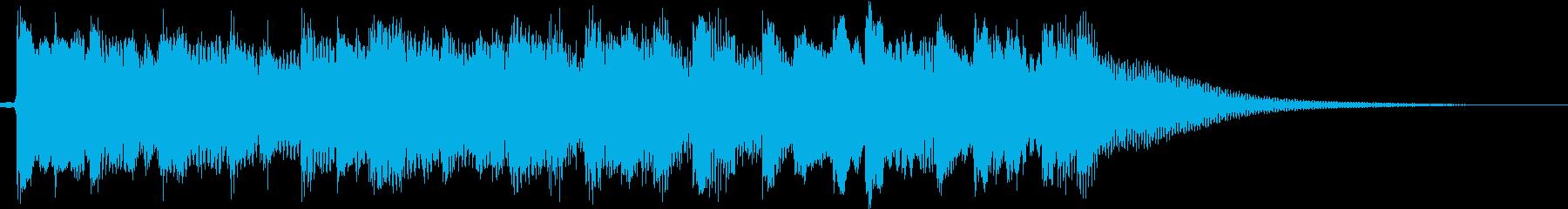 疾走感のある和風ジングル 8秒の再生済みの波形