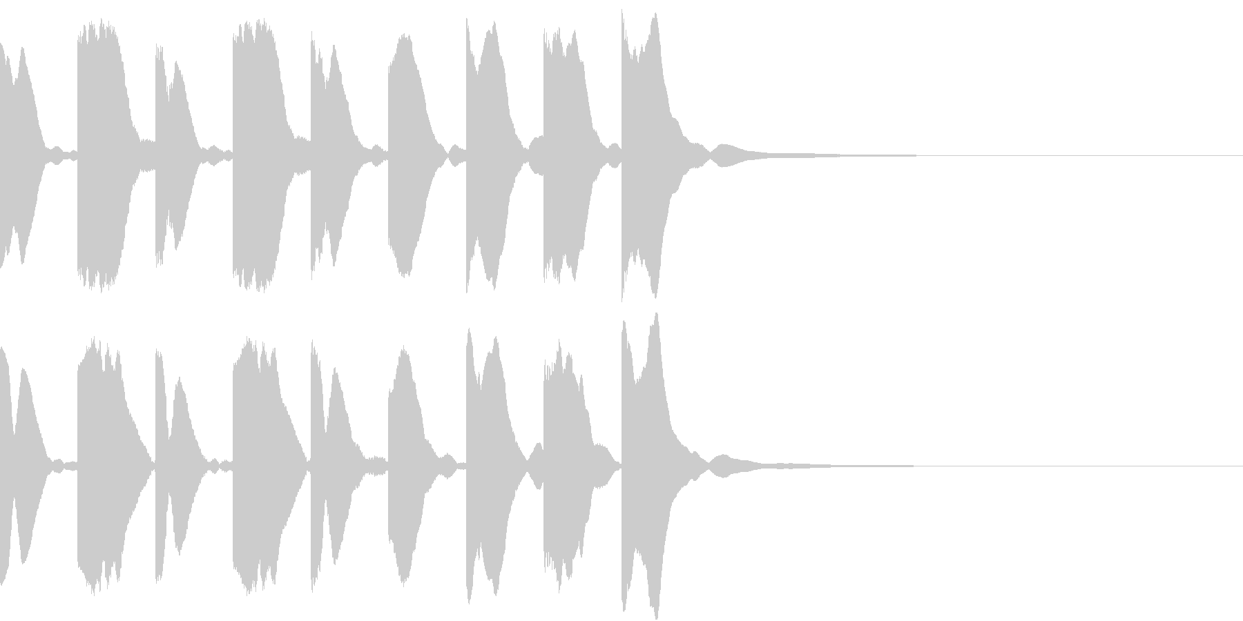 シンセ、テクノ、ピコピコ効果音2の未再生の波形