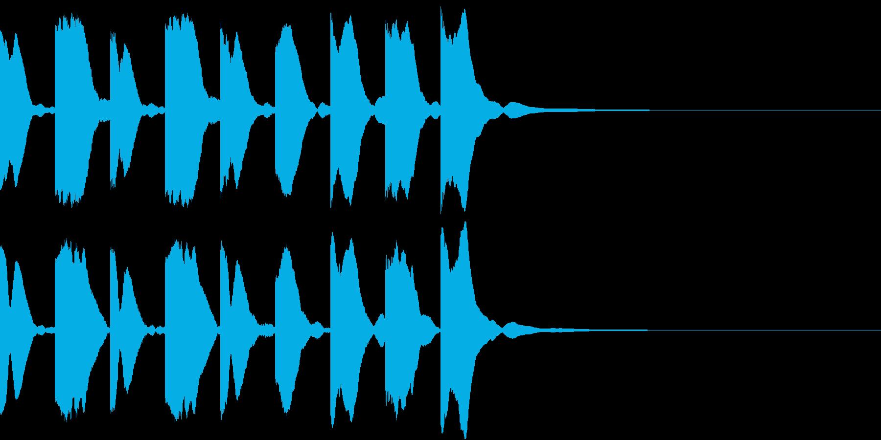 シンセ、テクノ、ピコピコ効果音2の再生済みの波形