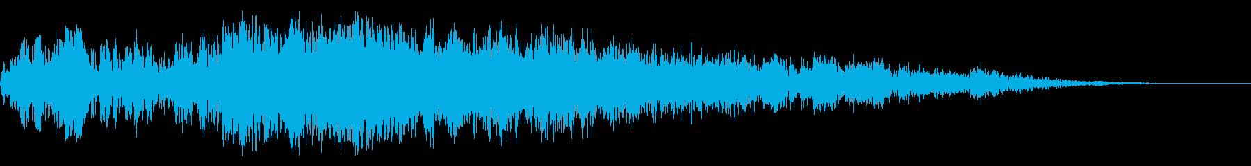 アニメにありそうなエネルギー弾(ポヒ)の再生済みの波形