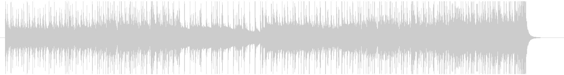 8分の6拍子の津軽三味線ロックの未再生の波形