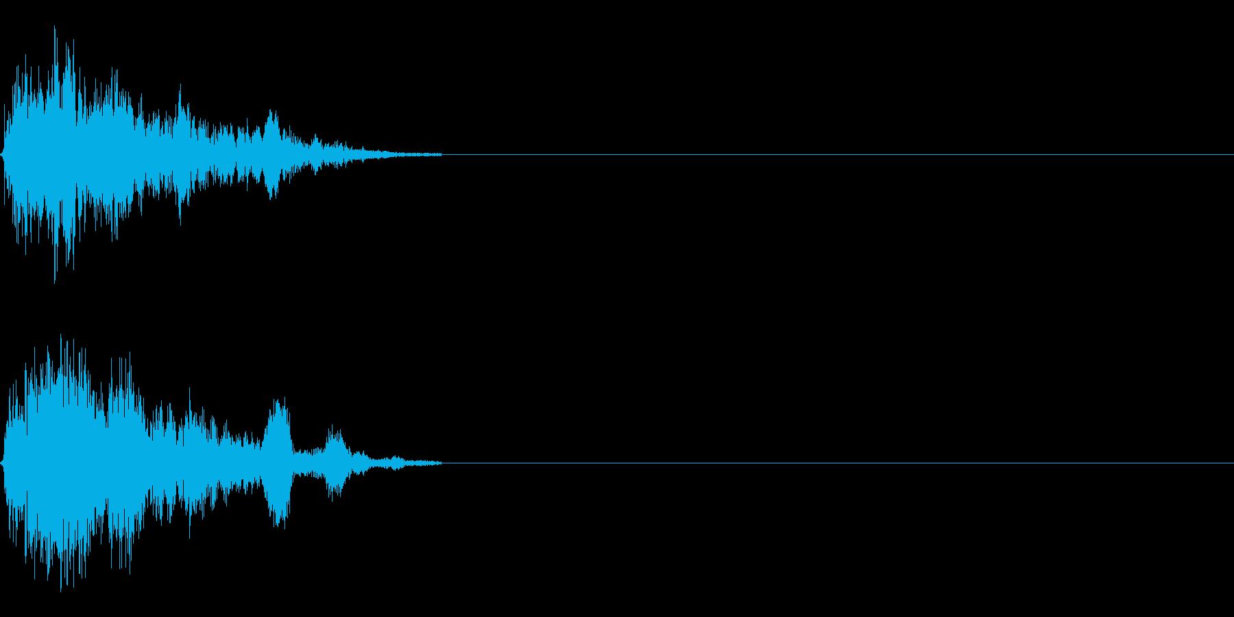 シューンキューンゲーム音の再生済みの波形