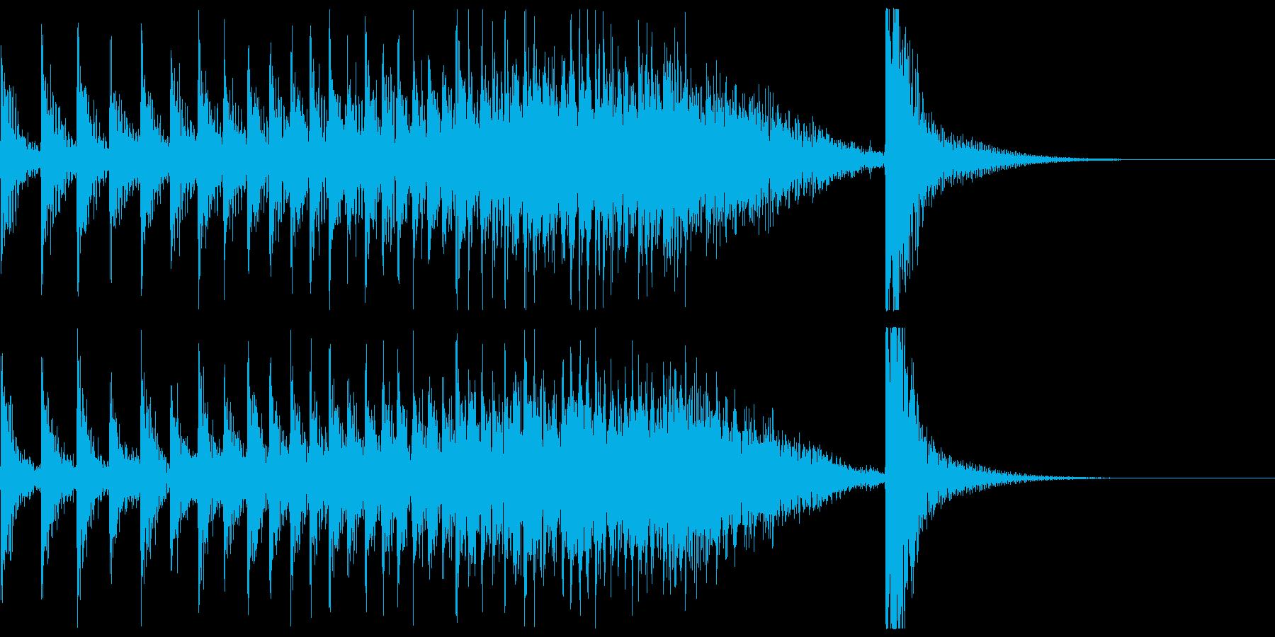 ドコドコ…ドドン!和太鼓ロール/ミドル2の再生済みの波形