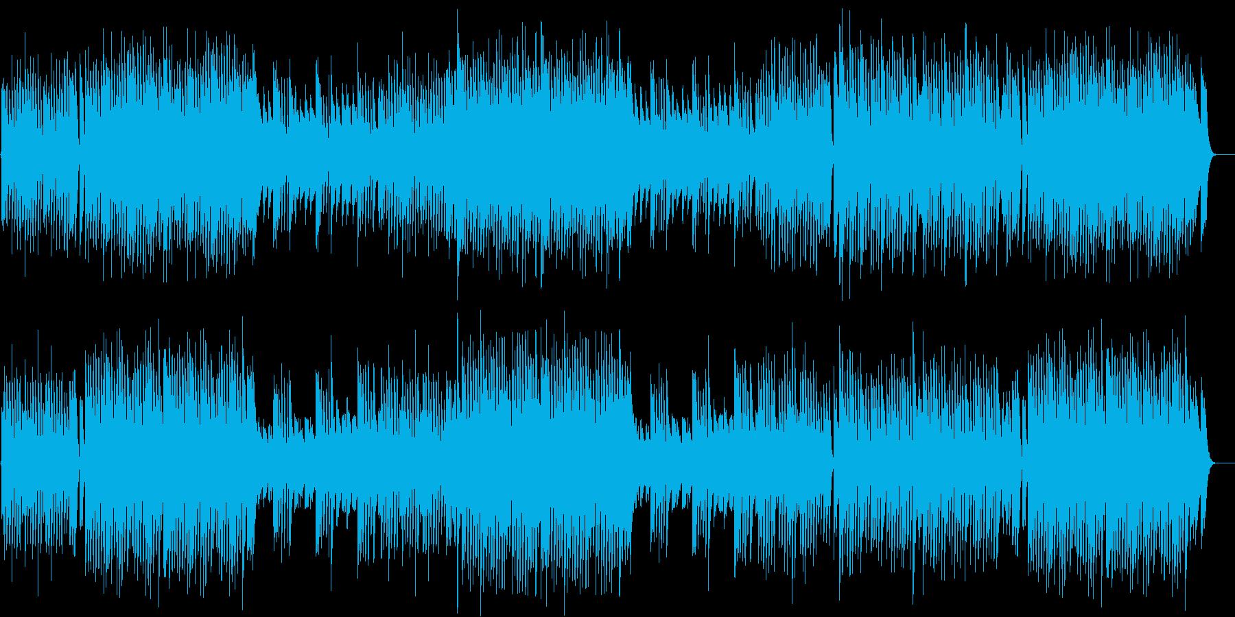 ペット動画に♪躍動感があるピアノBGMの再生済みの波形