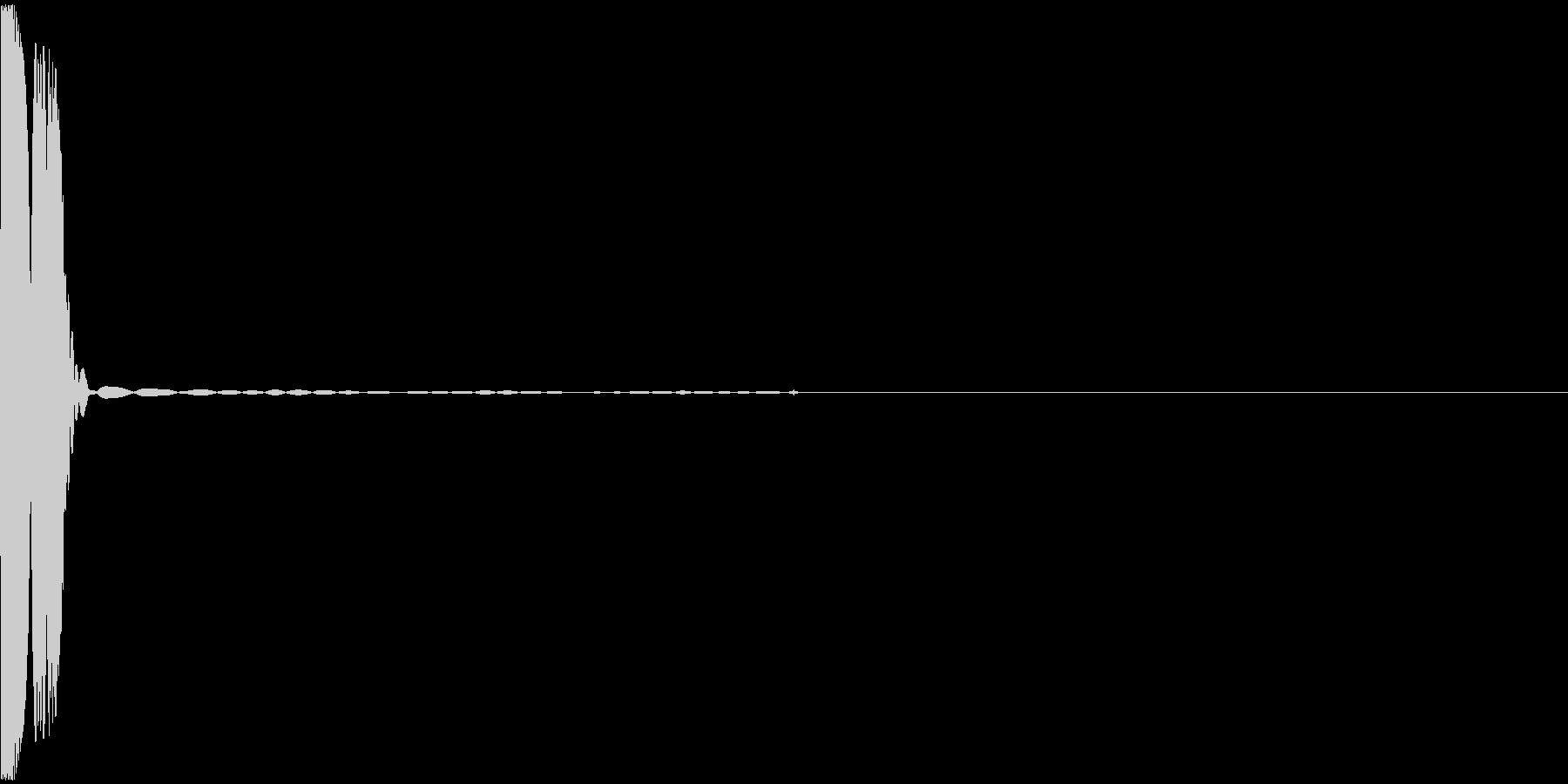 選択/押下音の未再生の波形