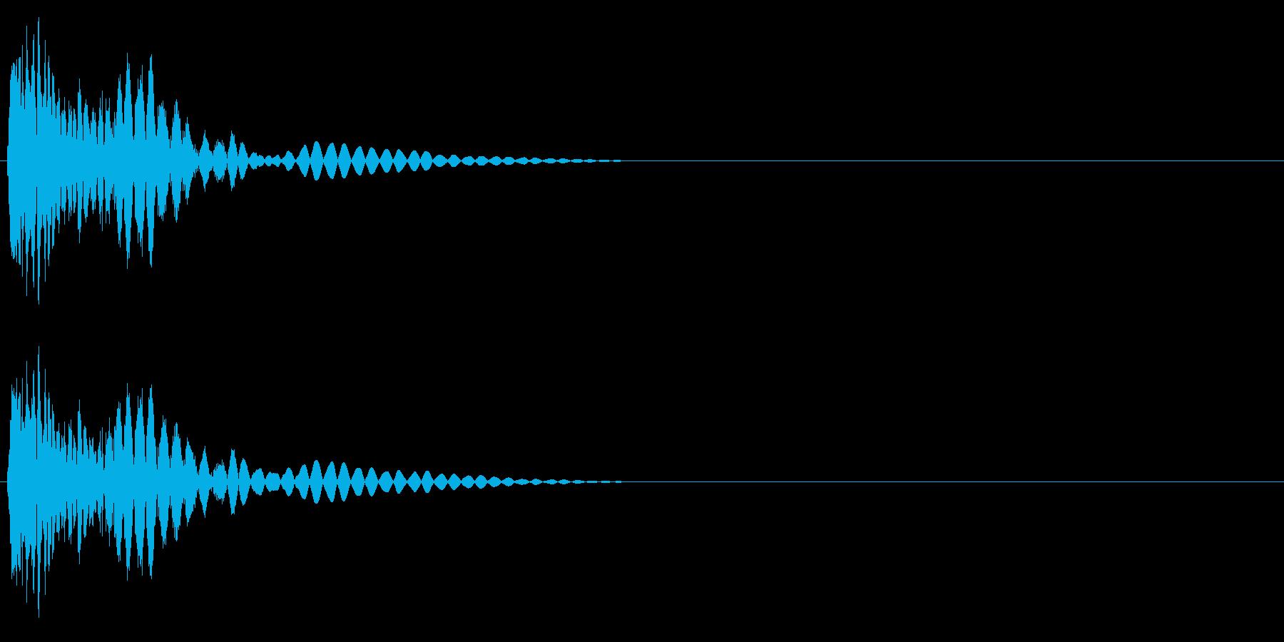 ビシッ(パンチ・打撃音)の再生済みの波形