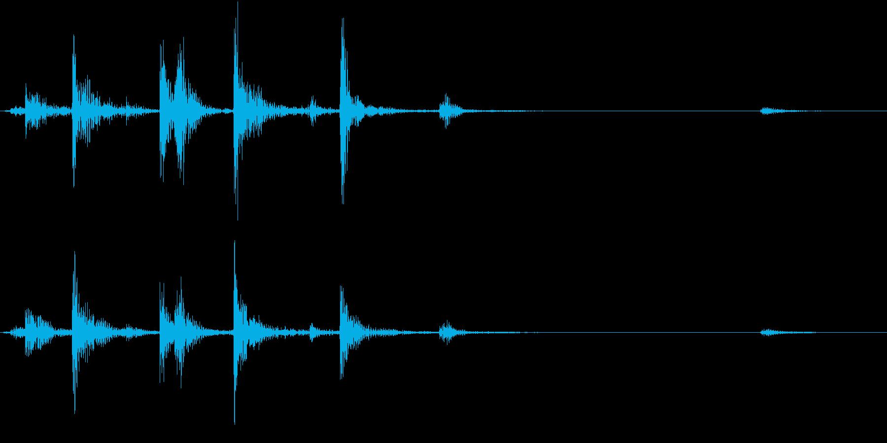 【生録音】お箸の音 27 箸箱から取るの再生済みの波形