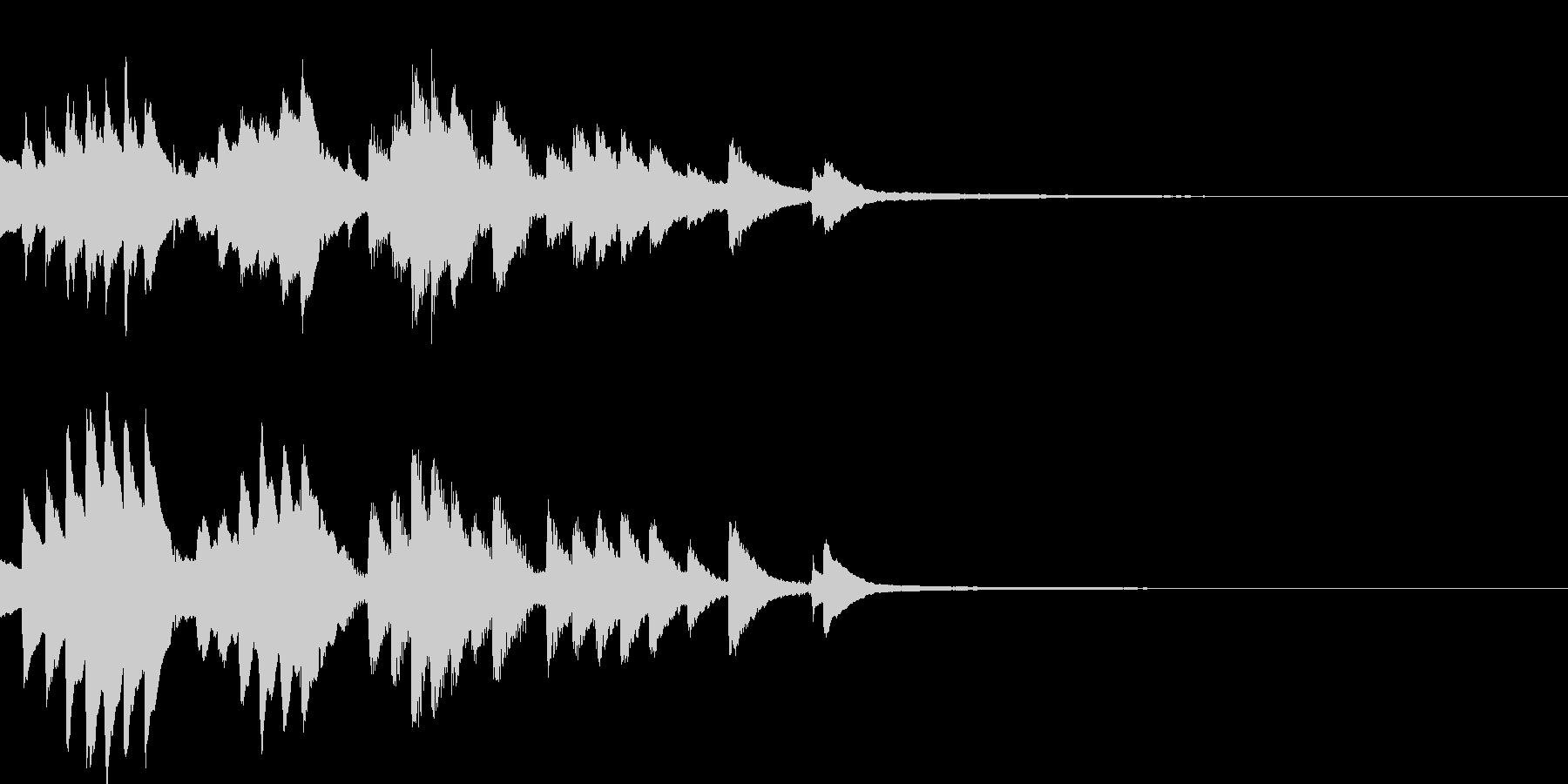 ほのぼのした雰囲気のピアノのジングルの未再生の波形