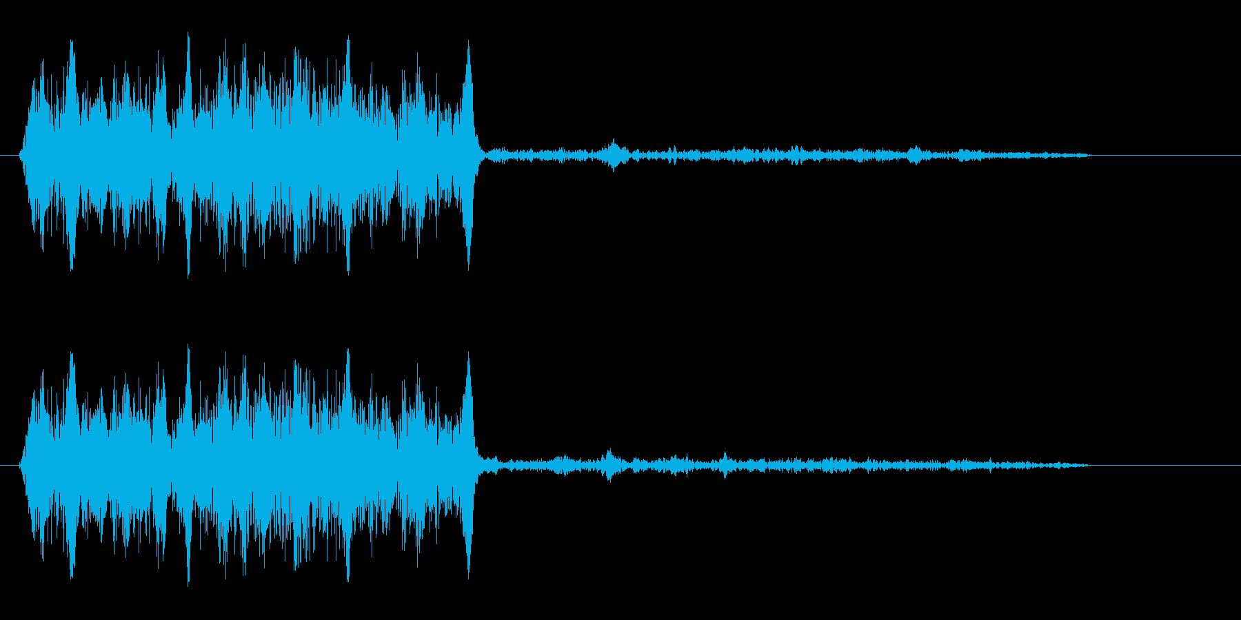 キュワ(摩擦または鳴き声)の再生済みの波形