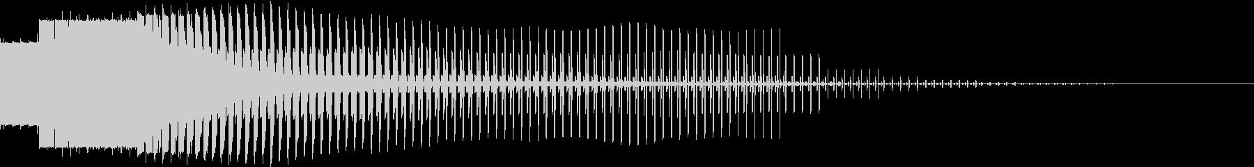 エネルギーがドンドン貯まっていくときの音の未再生の波形