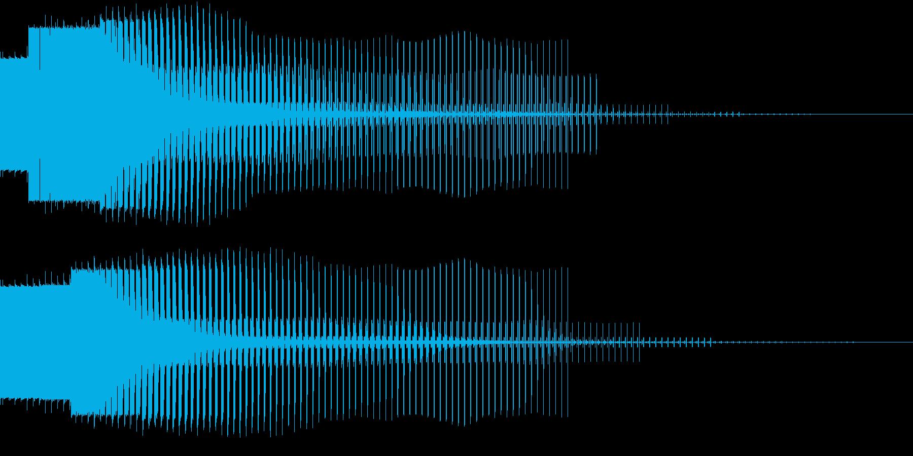 エネルギーがドンドン貯まっていくときの音の再生済みの波形