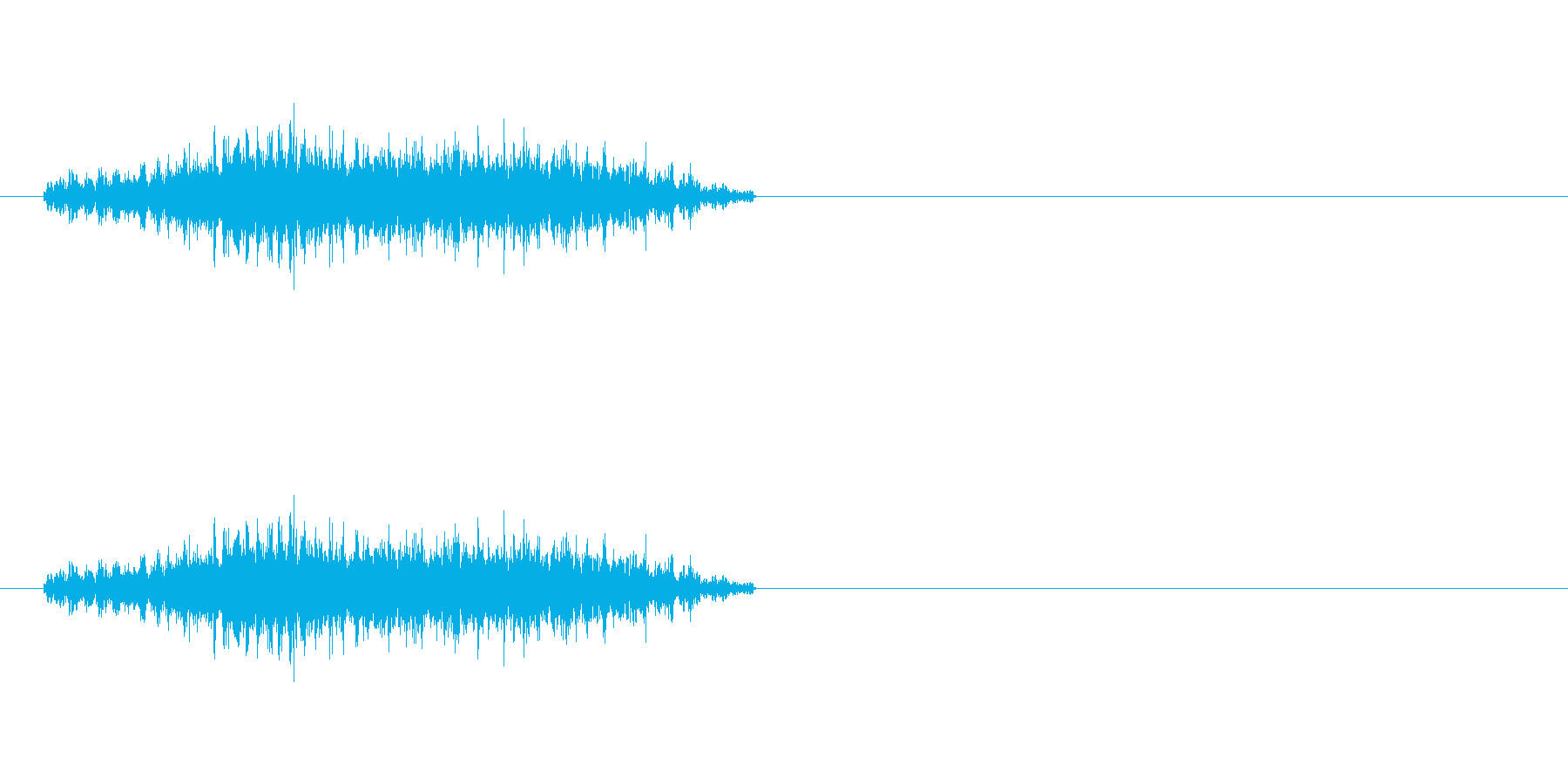 ドリルの軽めの音です。の再生済みの波形