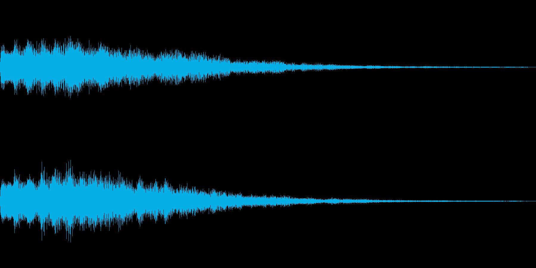 キラリ~ン(趣のある音色に仕上げました)の再生済みの波形