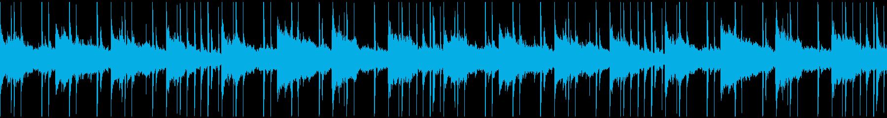 リラックスできるローファイなチルBGMの再生済みの波形
