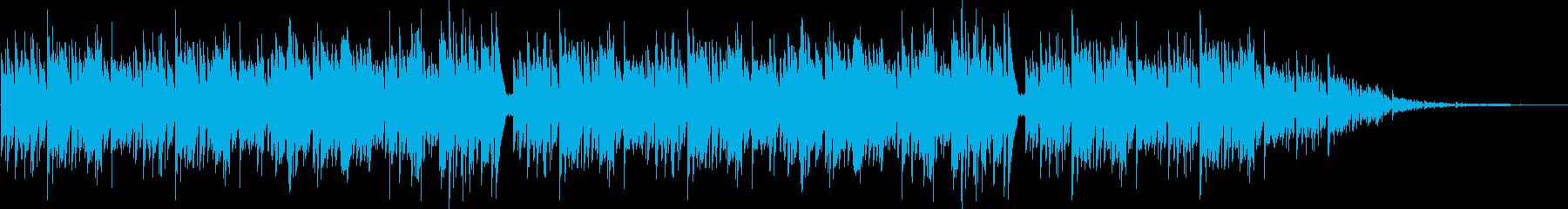 アコギでのボサノヴァ系BGMの再生済みの波形