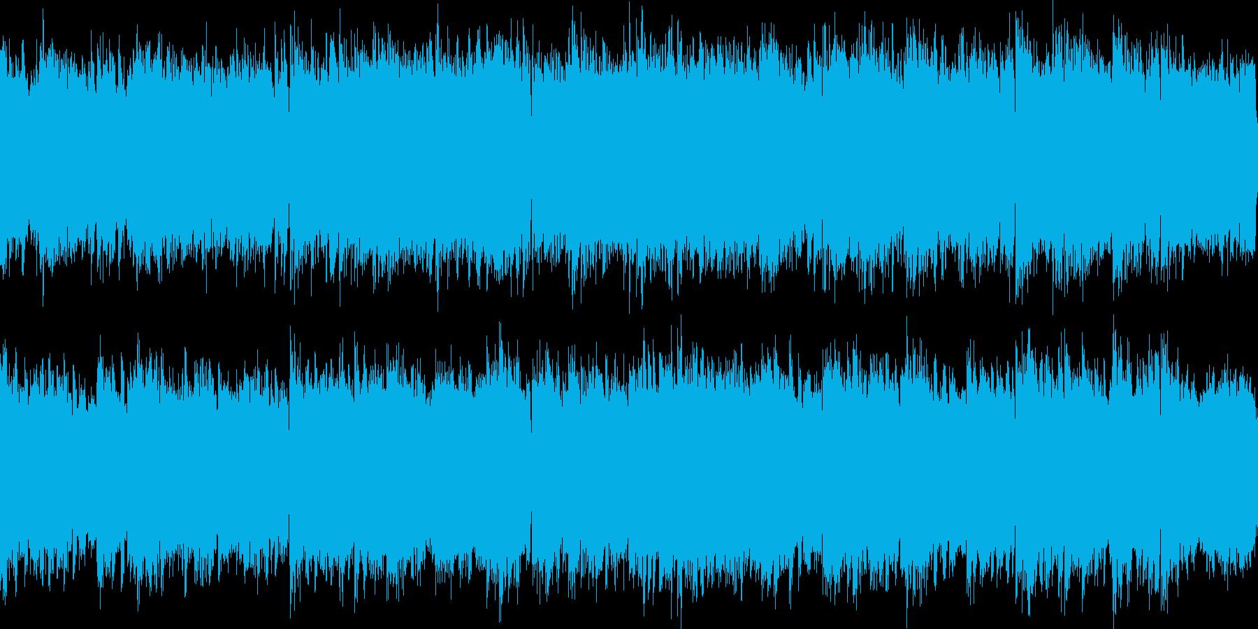 深海をイメージした神秘的な曲(ループ可)の再生済みの波形