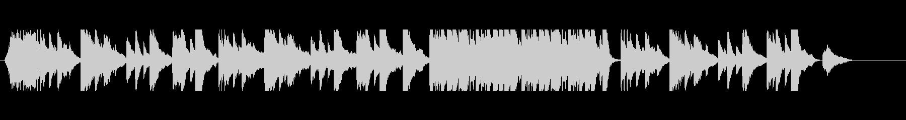 ピアノと弦楽器を使用した回想シーンの未再生の波形