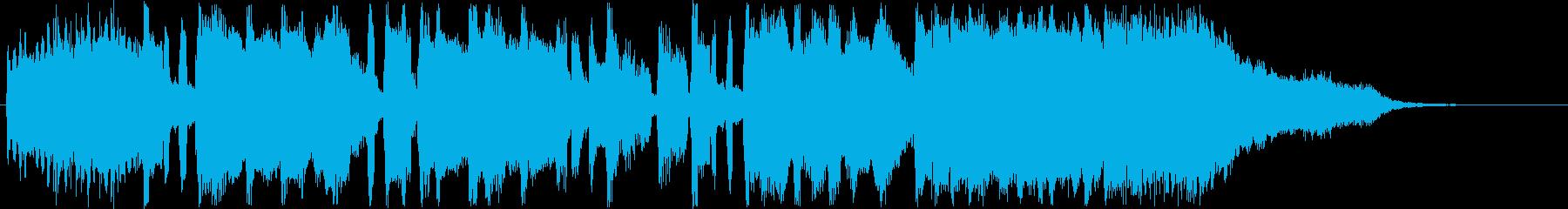明るくポップなショートミュージックの再生済みの波形