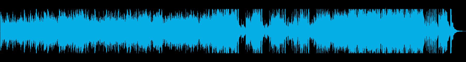壮大で広がりのあるオーケストラの再生済みの波形