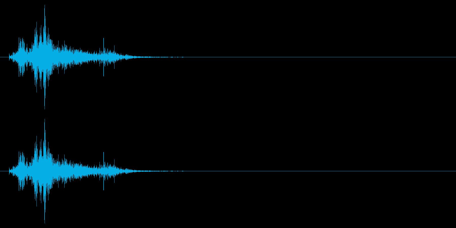 ドサッ(人が倒れる音)02の再生済みの波形