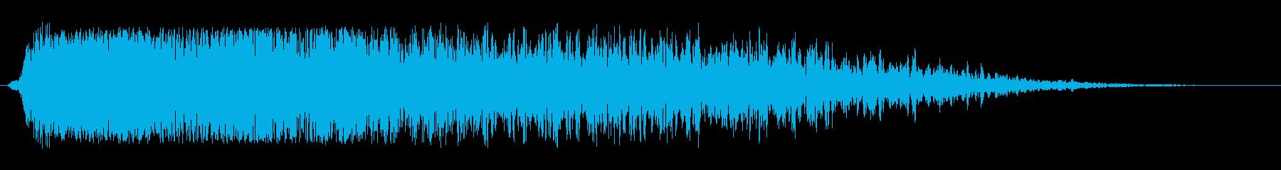 工場のコンプレッサー音の再生済みの波形