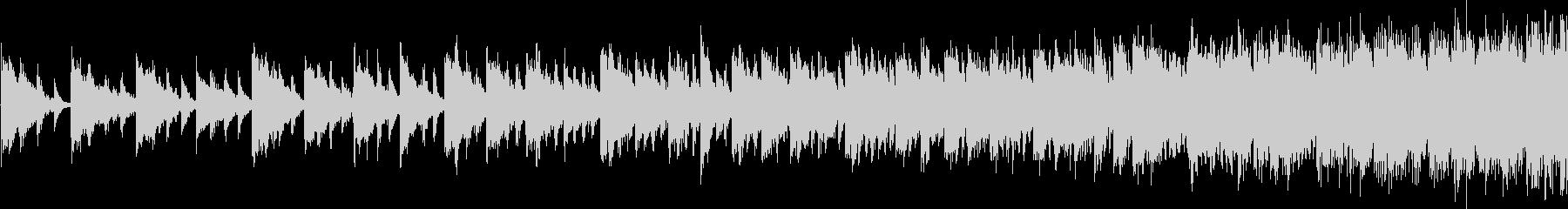 上昇する旋律が次第に早くなるSE_ループの未再生の波形
