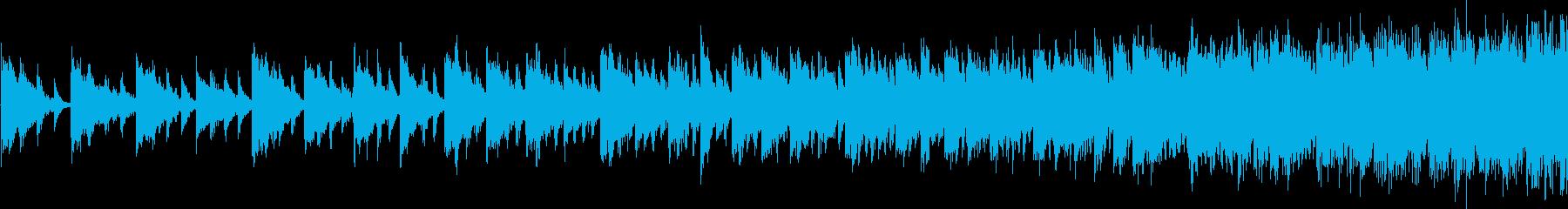 上昇する旋律が次第に早くなるSE_ループの再生済みの波形