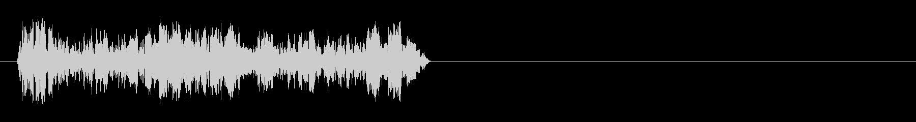 DJ スクラッチ ズクズク 場面転換の未再生の波形