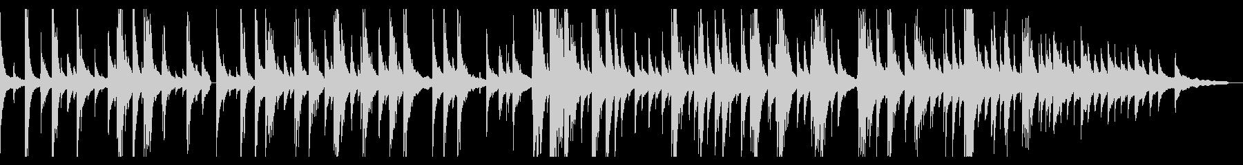ゆったり静かなジャズピアノバラードソロの未再生の波形