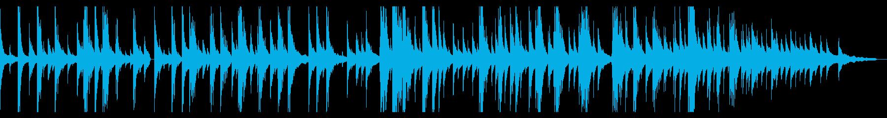 ゆったり静かなジャズピアノバラードソロの再生済みの波形