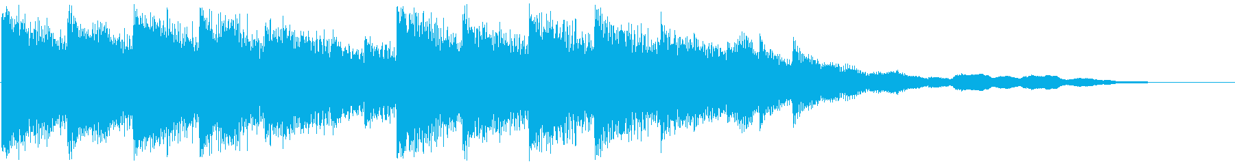 Cute fluffy synth jingle's reproduced waveform