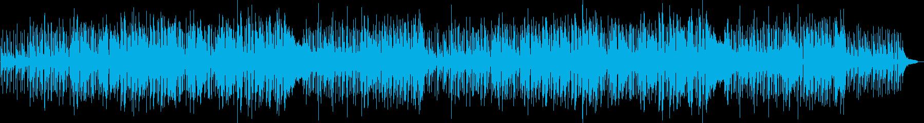 可愛らしい軽快なジャズ曲の再生済みの波形
