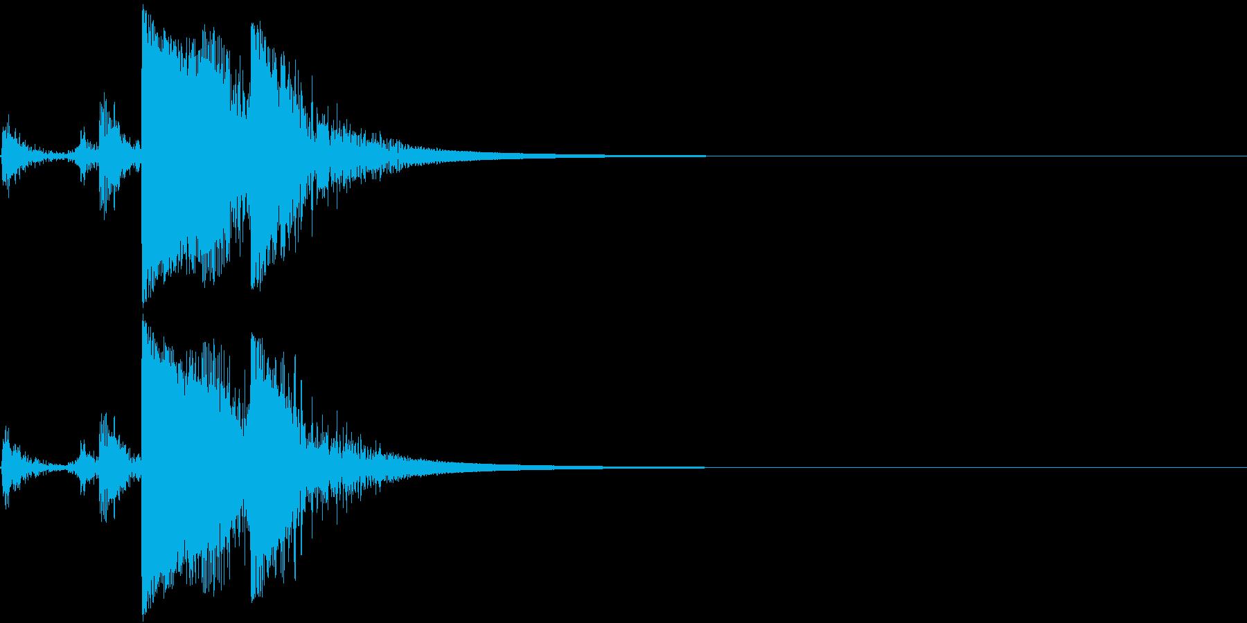 Metal 金属製の道具を置く音の再生済みの波形