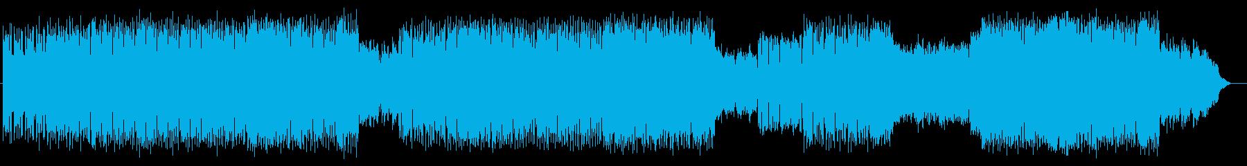 スピード感ある和風アップテンポポップスの再生済みの波形