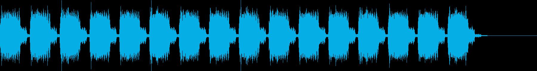 ビーッビーッ 警告音・サイレンの再生済みの波形