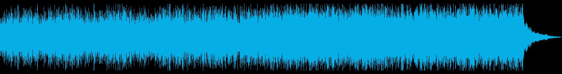 チェロとピアノのアンビエントの再生済みの波形